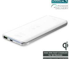 Powerbank Puro Wireless Slim 8000 mAh - biały